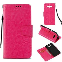 Retro Phantom Smooth PU Leather Wallet Holster Case for Samsung Galaxy J7 2016 J710 - Rose