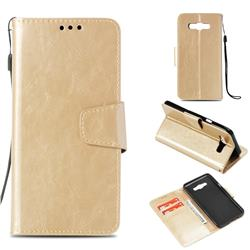 Retro Phantom Smooth PU Leather Wallet Holster Case for Samsung Galaxy J7 2016 J710 - Champagne