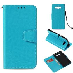 Retro Phantom Smooth PU Leather Wallet Holster Case for Samsung Galaxy J7 2016 J710 - Sky Blue