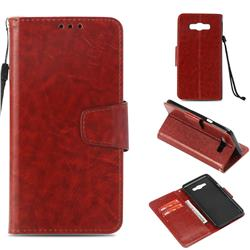 Retro Phantom Smooth PU Leather Wallet Holster Case for Samsung Galaxy J7 2016 J710 - Brown