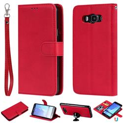 Retro Greek Detachable Magnetic PU Leather Wallet Phone Case for Samsung Galaxy J7 2016 J710 - Red