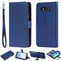 Retro Greek Detachable Magnetic PU Leather Wallet Phone Case for Samsung Galaxy J7 2016 J710 - Blue