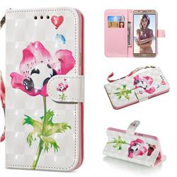 Flower Panda 3D Painted Leather Wallet Phone Case for Samsung Galaxy J7 2016 J710