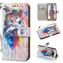 Watercolor Owl 3D Painted Leather Wallet Phone Case for Samsung Galaxy J7 2016 J710