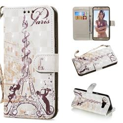 Tower Couple 3D Painted Leather Wallet Phone Case for Samsung Galaxy J7 2016 J710