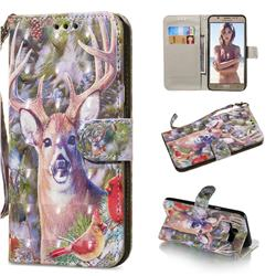 Elk Deer 3D Painted Leather Wallet Phone Case for Samsung Galaxy J7 2016 J710