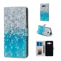 Sea Sand 3D Painted Leather Phone Wallet Case for Samsung Galaxy J7 2016 J710