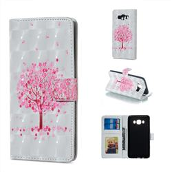 Sakura Flower Tree 3D Painted Leather Phone Wallet Case for Samsung Galaxy J7 2016 J710