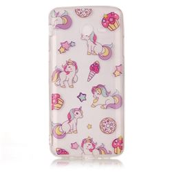 Unicorn Super Clear Soft TPU Back Cover for Samsung Galaxy J7 2017 Halo
