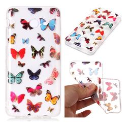 Colorful Butterfly Super Clear Soft TPU Back Cover for Samsung Galaxy J7 2017 Halo US Edition