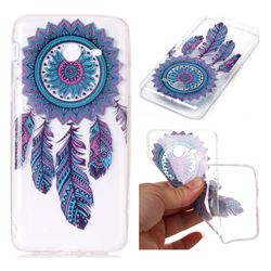 Blue Wind Chimes Super Clear Soft TPU Back Cover for Samsung Galaxy J7 2017 Halo US Edition
