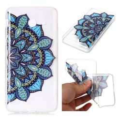Peacock flower Super Clear Soft TPU Back Cover for Samsung Galaxy J7 2017 Halo US Edition