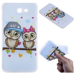 Couple Owls 3D Relief Matte Soft TPU Back Cover for Samsung Galaxy J7 2017 Halo US Edition