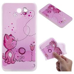 Cat and Bee 3D Relief Matte Soft TPU Back Cover for Samsung Galaxy J7 2017 Halo US Edition