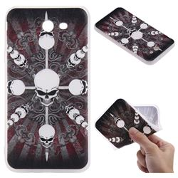 Compass Skulls 3D Relief Matte Soft TPU Back Cover for Samsung Galaxy J7 2017 Halo US Edition