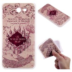 Castle The Marauders Map 3D Relief Matte Soft TPU Back Cover for Samsung Galaxy J7 2017 Halo US Edition