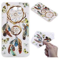 Color Wind Chimes 3D Relief Matte Soft TPU Back Cover for Samsung Galaxy J7 2017 Halo US Edition