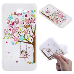 Tree and Girl 3D Relief Matte Soft TPU Back Cover for Samsung Galaxy J7 2017 Halo US Edition