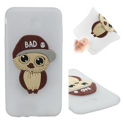Bad Boy Owl Soft 3D Silicone Case for Samsung Galaxy J7 2017 Halo US Edition - Translucent White