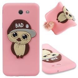 Bad Boy Owl Soft 3D Silicone Case for Samsung Galaxy J7 2017 Halo US Edition - Pink