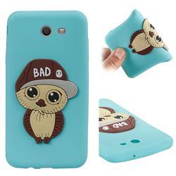 Bad Boy Owl Soft 3D Silicone Case for Samsung Galaxy J7 2017 Halo US Edition - Sky Blue