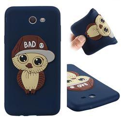 Bad Boy Owl Soft 3D Silicone Case for Samsung Galaxy J7 2017 Halo US Edition - Navy