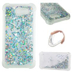 Dynamic Liquid Glitter Sand Quicksand Star TPU Case for Samsung Galaxy J7 2017 Halo US Edition - Silver