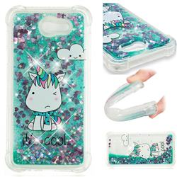 Tiny Unicorn Dynamic Liquid Glitter Sand Quicksand Star TPU Case for Samsung Galaxy J7 2017 Halo US Edition