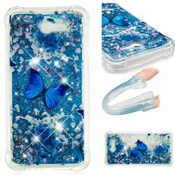 Flower Butterfly Dynamic Liquid Glitter Sand Quicksand Star TPU Case for Samsung Galaxy J7 2017 Halo US Edition