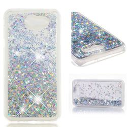 Dynamic Liquid Glitter Quicksand Sequins TPU Phone Case for Samsung Galaxy J7 2017 Halo US Edition - Silver