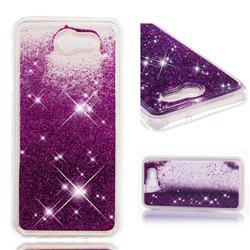 Dynamic Liquid Glitter Quicksand Sequins TPU Phone Case for Samsung Galaxy J7 2017 Halo US Edition - Purple