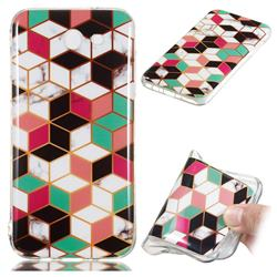 Three-dimensional Square Soft TPU Marble Pattern Phone Case for Samsung Galaxy J7 2017 Halo US Edition