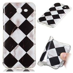 Black and White Matching Soft TPU Marble Pattern Phone Case for Samsung Galaxy J7 2017 Halo US Edition