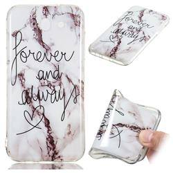 Forever Soft TPU Marble Pattern Phone Case for Samsung Galaxy J7 2017 Halo US Edition