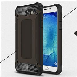 King Kong Armor Premium Shockproof Dual Layer Rugged Hard Cover for Samsung Galaxy J7 2017 Halo US Edition - Black Gold
