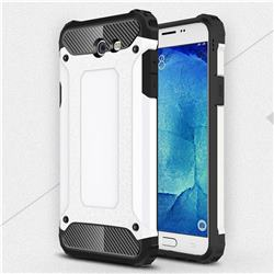 King Kong Armor Premium Shockproof Dual Layer Rugged Hard Cover for Samsung Galaxy J7 2017 Halo US Edition - White