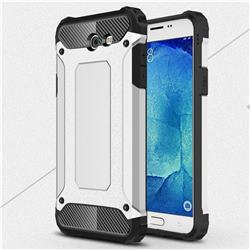 King Kong Armor Premium Shockproof Dual Layer Rugged Hard Cover for Samsung Galaxy J7 2017 Halo US Edition - Technology Silver