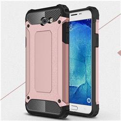 King Kong Armor Premium Shockproof Dual Layer Rugged Hard Cover for Samsung Galaxy J7 2017 Halo US Edition - Rose Gold