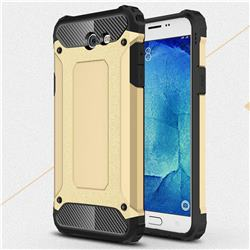 King Kong Armor Premium Shockproof Dual Layer Rugged Hard Cover for Samsung Galaxy J7 2017 Halo US Edition - Champagne Gold