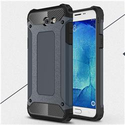 King Kong Armor Premium Shockproof Dual Layer Rugged Hard Cover for Samsung Galaxy J7 2017 Halo US Edition - Navy