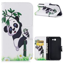 Bamboo Panda Leather Wallet Case for Samsung Galaxy J7 2017 Halo