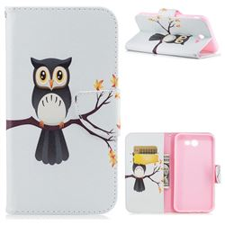Owl on Tree Leather Wallet Case for Samsung Galaxy J7 2017 Halo
