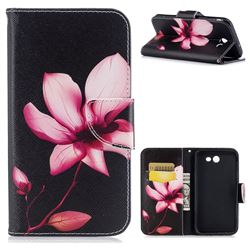 Lotus Flower Leather Wallet Case for Samsung Galaxy J7 2017 Halo