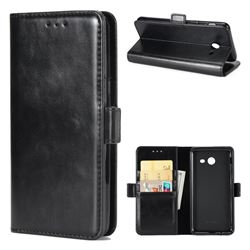 Luxury Crazy Horse PU Leather Wallet Case for Samsung Galaxy J7 2017 Halo US Edition - Black