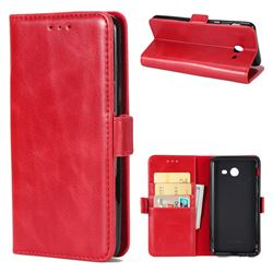 Luxury Crazy Horse PU Leather Wallet Case for Samsung Galaxy J7 2017 Halo US Edition - Red