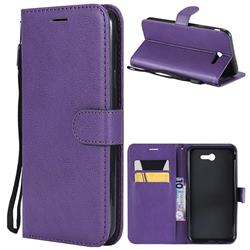 Retro Greek Classic Smooth PU Leather Wallet Phone Case for Samsung Galaxy J7 2017 Halo US Edition - Purple