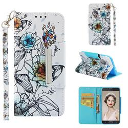 Fotus Flower Big Metal Buckle PU Leather Wallet Phone Case for Samsung Galaxy J7 2017 Halo US Edition