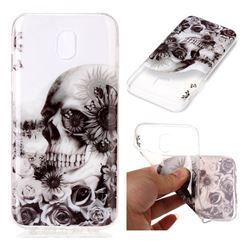 Black Flower Skull Super Clear Soft TPU Back Cover for Samsung Galaxy J7 2017 J730 Eurasian