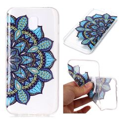 Peacock flower Super Clear Soft TPU Back Cover for Samsung Galaxy J7 2017 J730 Eurasian