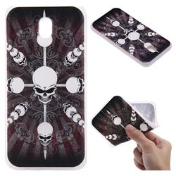Compass Skulls 3D Relief Matte Soft TPU Back Cover for Samsung Galaxy J7 2017 J730 Eurasian